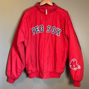 Authentic majestic red sox puff jacket.